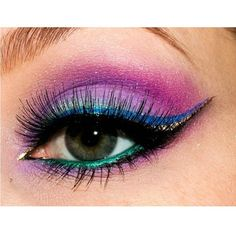 sugarpillmakeup: Marvelous #eotd by @Ashley Crowder using #Sugarpill Paperdoll, 2am, Poison Plum, Lumi, Bulletproof, Darling (on her waterline - gorgeous!!) eyeshadows. She also used Goldilux and Royal Sugar to create her own liquid eyeliner! To do this, just mix any loose eyeshadow with a mixing medium (We love sugarpillmakeup skin or @Illamasqua Ltd sealing gel) and apply with a thin brush.