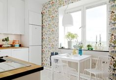 Светлый колорит, функциональная мебель, теплые цветовые акценты - 17 кухонь в Скандинавском стиле