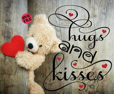 Items similar to Hugs And Kisses on Etsy <br> Hugs And Kisses Quotes, Hug Quotes, Kissing Quotes, Amor Quotes, Besties Quotes, Night Quotes, Friend Quotes, Morning Quotes, Qoutes