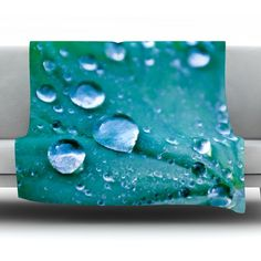 East Urban Home Water Droplets Fleece Throw Blanket Size: 60'' L x 50'' W, Color: Aqua