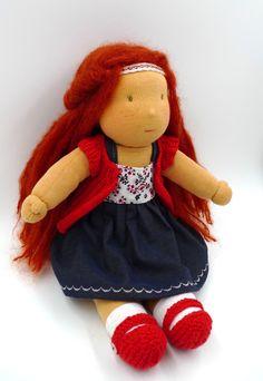 Cette poupée a été réalisée entièrement à la main avec des matières naturelles et douces : -jersey de coton öeko tex pour la peau -laine cardée naturelle pour le rembourrage -laine mohair po… Teddy Bear, Toys, Animals, Mohair Yarn, Upholstery, Damselflies, Handmade, Activity Toys, Animales