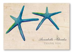Pacific Starfish thank you notes to thank your friends for attending your beach wedding reception!