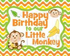 Popular items for party monkey on Etsy