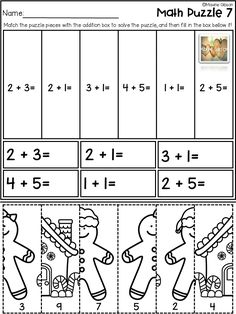 Check out my full freebies more than 200 pages, free sample, flash freebies, and flash sale at Maxine Gibson Kindergarten Math/ Basic Operations/ Addition/ Puzzle/ Worksheets/ Printables/ Math Centers/ No Prep First Grade Freebies, Kindergarten Freebies, First Grade Math, Math Stations, Math Centers, Math Resources, Math Activities, Maths Puzzles, New Teachers