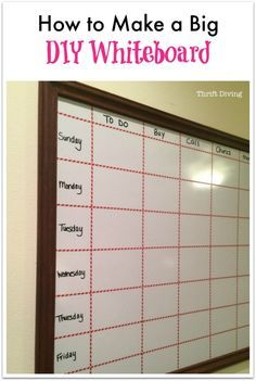 Get organized for the New Year with this tutorial on how to make a big DIY whiteboard for less than $40! Perfect project even a DIY beginner can do. No scary, expensive tools required! Promise :)
