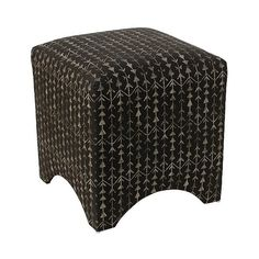 Kingston Ottoman ($224) ❤ liked on Polyvore featuring home, furniture, ottomans, black, modern furniture, black ottoman, cushioned ottoman, black modern furniture and modern home furniture