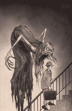 mrevilboy:  sixpenceee:  Art by John Kenn Mortensen   Fkn rad!!!!!