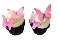 24 Edible Butterfly  Prettiest Pink  Cupcake by incrEDIBLEtoppers, $9.95