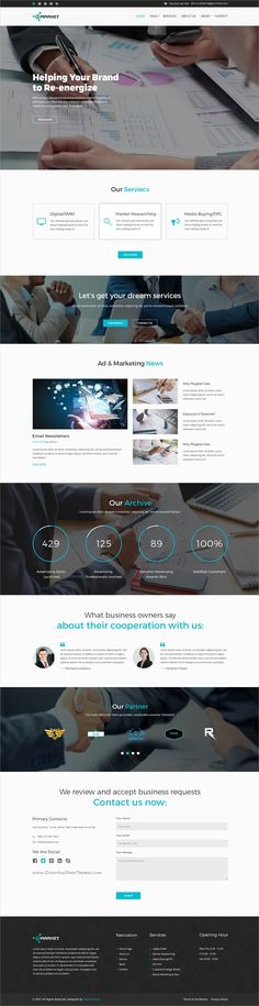 E-Market is a wonderful #PSD template for #marketing and #business websites with 10 organized PSD pages download now➩ https://themeforest.net/item/emarket-business-psd-template/19256083?ref=Datasata
