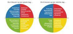 Kwaliteiten en valkuilen van de 4 voorkeurstijlen. Model= Insights Discovery