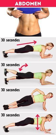 9 exercices abdos pour avoir un ventre plat rapidement