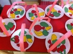 New fruit basket diy paper plates Ideas Fruit Crafts, Food Crafts, Flower Crafts, Duck Crafts, Bunny Crafts, Wreath Crafts, Preschool Arts And Crafts, Diy And Crafts, L'art Du Fruit
