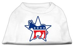 Mirage cat Products 16-Inch Democrat Screen Print Shirt for cats, X-Large, White *** Tried it! Love it! Click the image. (This is an amazon affiliate link. I may earn commission from it)