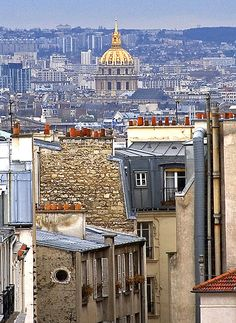 Les Invalides as seen from Montmartre, Paris, France