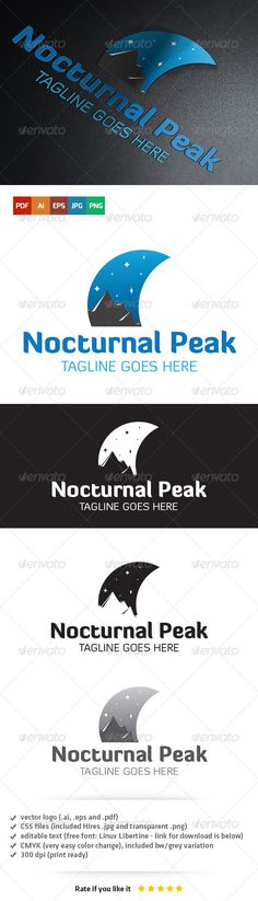Nocturnal Peak Logo — Vector EPS #software #midnight • Available here → https://graphicriver.net/item/nocturnal-peak-logo/5403704?ref=pxcr