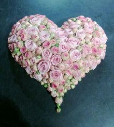 Incredibly cute pink rose heart