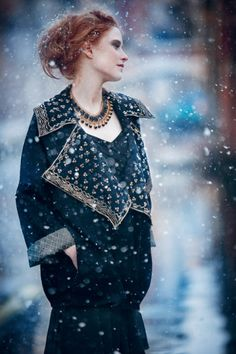 the subject line on today's email from toast uk merely said 'dancing snow'. image via Toast UK Look Fashion, Fashion Models, Winter Fashion, Fashion Design, Trendy Fashion, Toast Uk, Vogue, Inspiration Mode, Fashion Catalogue