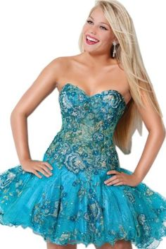 Jovani Prom Dress with Floral Embroidery