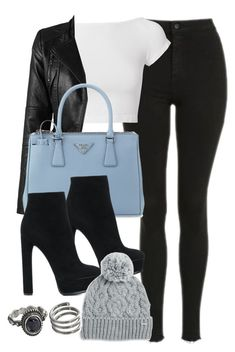 """#14044"" by vany-alvarado ❤ liked on Polyvore featuring Topshop, Helmut Lang, Prada, Casadei, Rella and Mudd"
