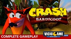🎮 Crash Bandicoot (PlayStation) - Complete Gameplay #viciogame  http://www.youtube.com/watch?v=uSQvAJc-FW4