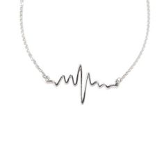 FOR THE GIRL BOSS: A meaningful heartbeat that will make your s skip a beat! 19 long and spring ring closure Shipping is included with the above price Jewelry Shop, Handmade Jewelry, Unique Jewelry, Jewellery, Medical Gifts, In A Heartbeat, Sterling Silver Necklaces, Pendants, Jewels