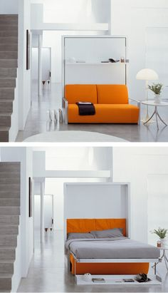 Pull-down double bed ITO by CLEI | #design Giulio Manzoni