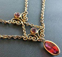 Vintage Necklace Festoon Lavalier Style by BrightgemsTreasures, $49.50