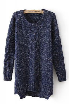 Love Oversized Sweaters! Cozy Oversized Cable Knit High Low Hem Pullover Loose Sweater #Cozy #Oversized #Cable #Knit #High #Low #Hem #Pullover #Loose #Sweater