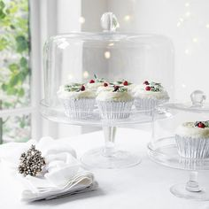 Lidded Glass Cake Stand   The White Company. Shopping from the US? -> http://us.thewhitecompany.com/Home-%26-Bath/Glassware/Lidded-Glass-Cake-Stand/p/XGHFC?swatch=Clear