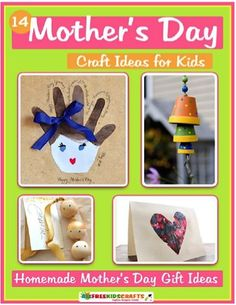 FREE e-Book: 14 Mother's Day Crafts for Kids! #mothersday #craft #thefrugalgirls