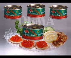 Directly from OLMA caviar manufacturer 24 Metal cans of SALMON Red caviar in carton BOX. Each can is 4.6 oz (131g) Premium quality Russian Red Caviar Roe. High grade pink salmon roe. (COMBO OF FOUR) OLMA (Red) Salmon Caviar 4.6 oz (131g)