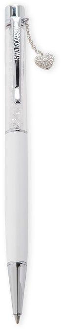 Swarovski White Crystalline Heart Charm Ballpoint Pen