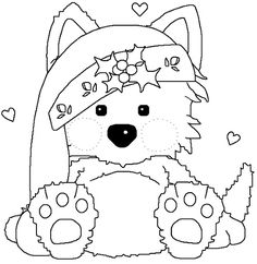 Christmas Coloring Pages Animal - Christmas Coloring Pages Animal , Christmas Printables Puppy Coloring Pages Christmas Puppy Puppy Coloring Pages, Coloring Book Pages, Coloring Pages For Kids, Christmas Colors, Christmas Crafts, Merry Christmas, Clipart Noel, Illustration Noel, Christmas Puppy