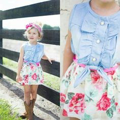 Cowgirl Boots Are The Perfect Touch To This Floral Denim Dress…