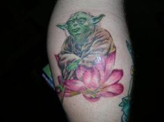 Yoda tattoo @Jesse Ward