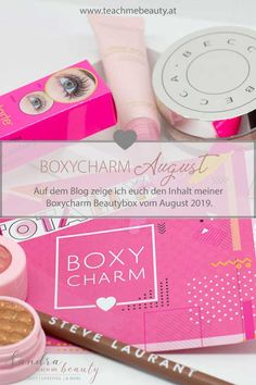 Boxycharm August 2019: Auf dem Blog zeige ich euch den Inhalt meiner Boxycharm Beautybox vom August 2019 Beauty Box, Beauty And More, Beauty Review, German, Blog, Boxes, Eyeshadow, Teaching, Group