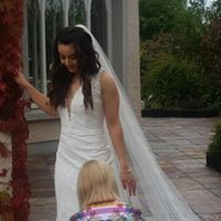 Image may contain: 1 person, smiling, standing and outdoor Designer Wedding Dresses, Wedding Gowns, Wedding Day, Future Husband, Showroom, That Look, White Dress, Bride, Unique