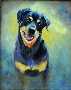 """Daily Paintworks - """"Paige"""" - Original Fine Art for Sale - © Dorothy McLennan"""