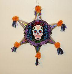 Sugar Skull Piñata. Halloween Pinata.   Star Shaped by pinatas20