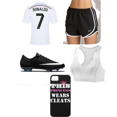 Soccer practice outfit ⚽️ by elaineberumen on Polyvore featuring polyvore, fashion, style, Moving Comfort and NIKE