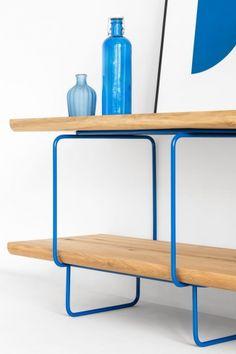 GROP SINGLE regał modułowy w stylu bauhaus polski design Mebloscenka Bauhaus, Loft, Shelves, Bar, Table, Furniture, Design, Home Decor, Shelving