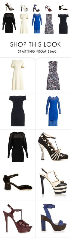"""""""Untitled #625"""" by yagna ❤ liked on Polyvore featuring Osman, Erdem, Raey, Versace, Balmain, Gucci, Dolce&Gabbana, Yves Saint Laurent, ALEXA WAGNER and vintage"""