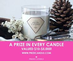 Prize candle with jewelry in every candle!  This would be such a fun gift and reminds me of being a kid and getting prizes in cereal boxes.