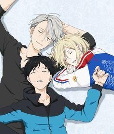 BEPO| Yuri on ice||| Victor Nikiforov, Yuri Katsuki, Yuri Plisetsky, official art #yurionice