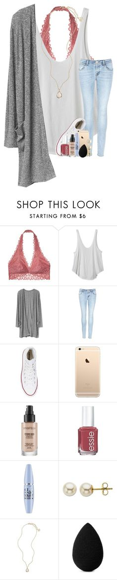 """happy valentine's day !"" by taylorvel ❤ liked on Polyvore featuring Victoria's Secret, RVCA, J Brand, Converse, Smashbox, Essie, Maybelline, Lord & Taylor, Kendra Scott and beautyblender"