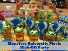 Monsters University Movie Party Ideas - Really simple supplies make for a really fun get together!