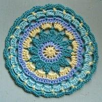 Crochet Mandala Wheel made by  Jenny, York, UK, for  yarndale.co.uk
