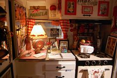 1950's vintage travel trailer | travel trailer interior