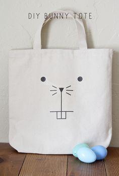 A R D O R: DIY BUNNY TOTE. such a cute bunny face