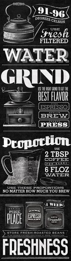 Food infographic Starbucks - Home Brew by Jaymie McAmmond, via Behance. Infographic Description Starbucks - Home Brew by Jaymie McAmmond, via Behance - Typo Design, Menu Design, Graphic Design Typography, Lettering Design, Chalk Lettering, Typography Letters, Typography Inspiration, Graphic Design Inspiration, Typographie Fonts